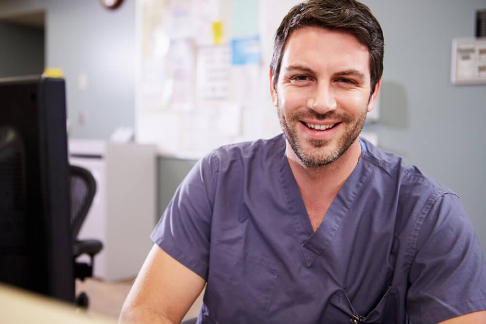 Nurse in hospital setting